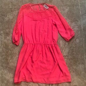 ❤️3/4 length Hot Pink Gibson Latimer dress Nwt